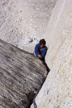 Joey Papazian on pitch 6 of the Red Dihedral on the Incredible Hulk. T...