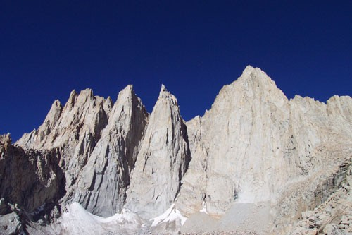 Day Needle, Keeler Needle, and Mt. Whitney (left to right). Bo...