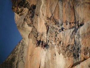 Leading off on the 5.12 free variation to pitch 32 above the Salathé H...