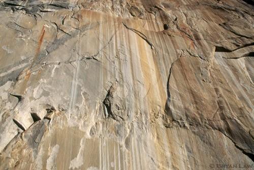 The beauty of stone.  El Cap near Zodiac start.  1997