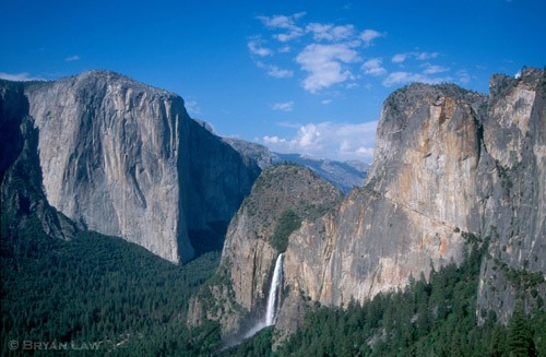 Yosemite Valley from The Darkside.  1999