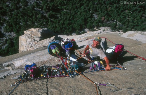 Kaptain Kirk Bland on The Boot.  Nose/ Tribal Rite, El Cap.  1999