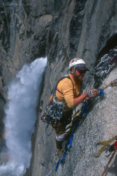 Roger Strong, Reckless Abandon, after the FA of Summerland, Yosemite F...