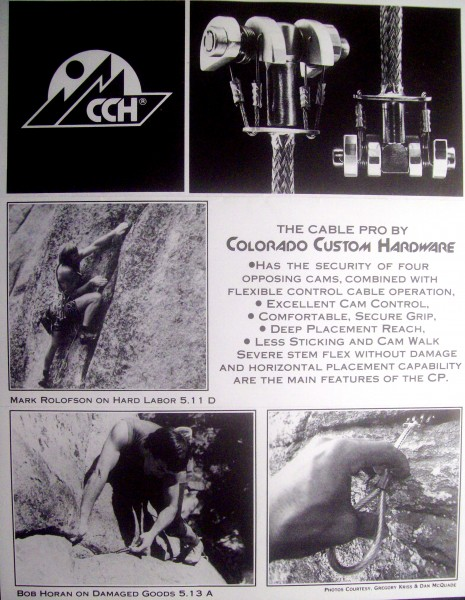 "CCH first brochure for Cable Pro later to be known as ""Aliens""."