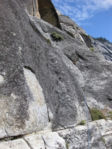 Second pitch after Bishop's Terrace to single-rope rappel descent.  