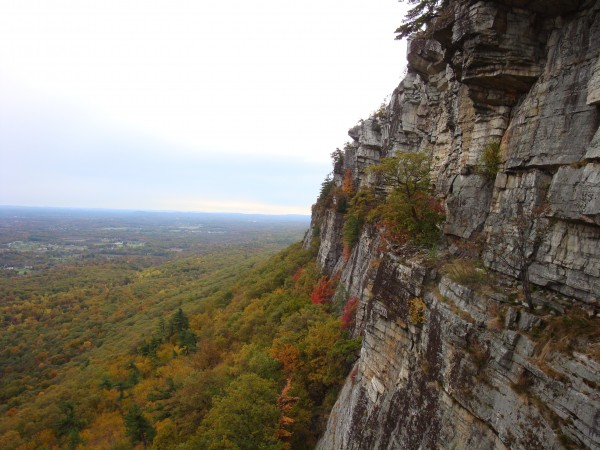 View from the High E belay ledge
