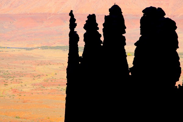 Cool morning silhouette of Ancient Art. 