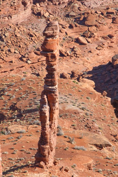 The Pixie Stick, Monument Basin, Canyonlands National Park, Utah.