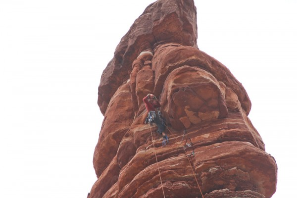 Me at the crux of the 2nd pitch. <br/>