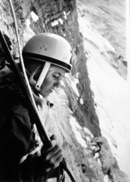 My friend Zorka Prachtel high on the Eiger in 1971.