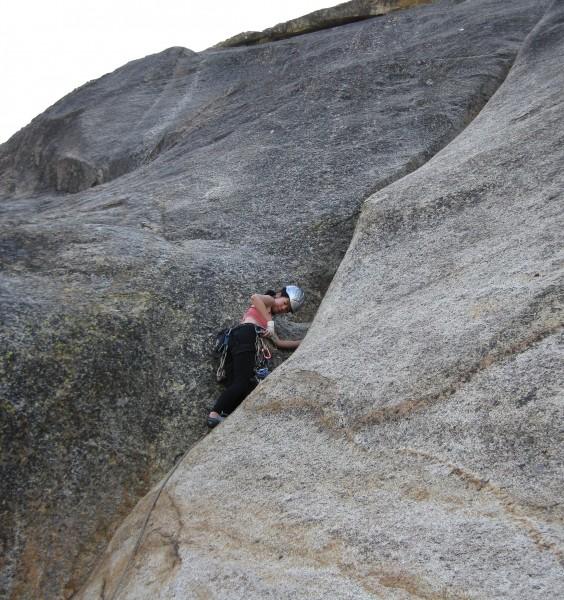 Ishun climbing at Lost Eagle, Shuteye