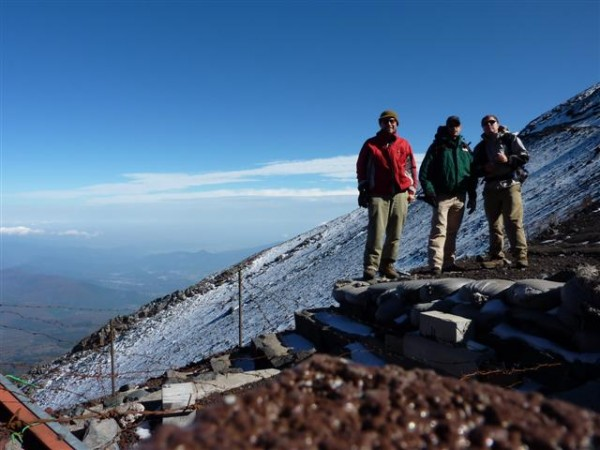 This is our partry at the 8th Station, as high as we got. The summit i...