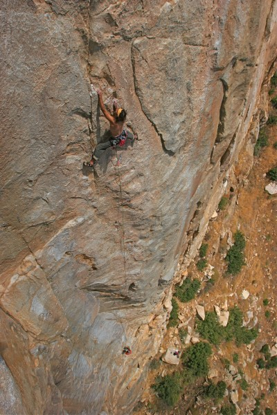 Pitch 2, Baby Face, 5.11c, EP Main Wall