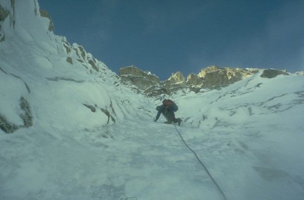 Steep ground, NW Face of the Rooster Comb