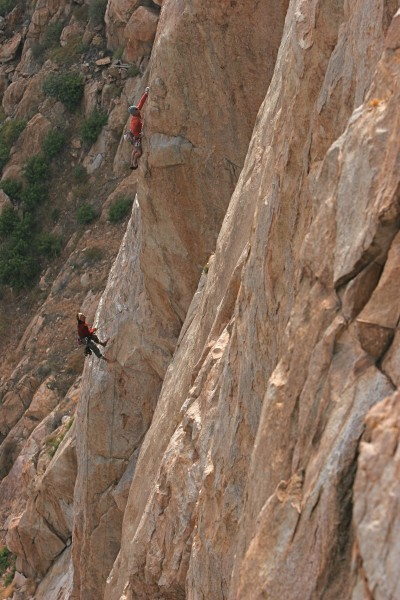 Third pitch, Tail Tucker Arete, 11d