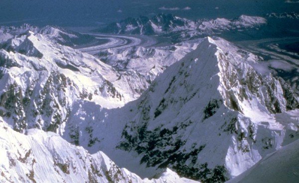Mt. Huntington from South Buttress of Denali