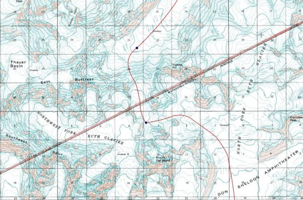 Traleika Pass area