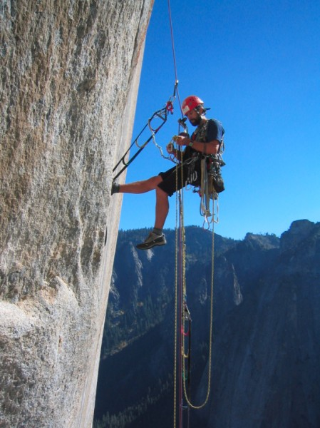 Ammon McNeely after taking a 30 foot fall on the first one day ascent ...