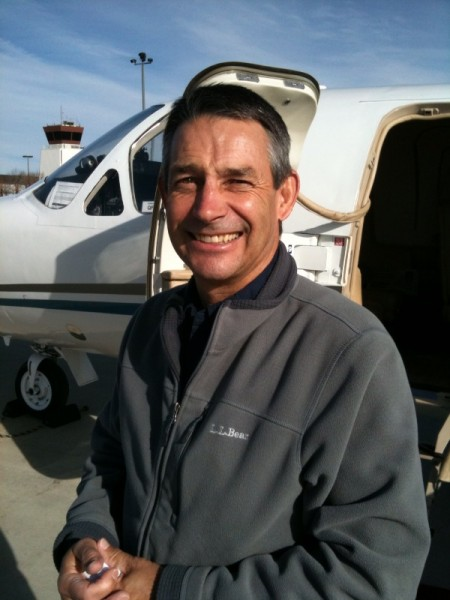 Steve Sutton and his ride, a Citation jet