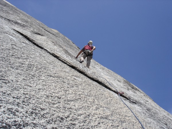 Frank Baker leading the Boltway above Hermaphrodite Flake