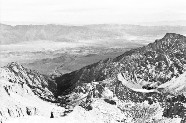 The view from Mount Whitney's summit.