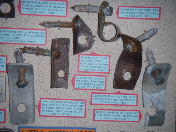 Bolt Hangers from Salathe Routes