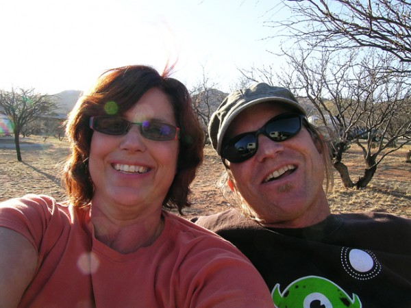Cyndie and brother, Doug Kartchner Caverns campground AZ