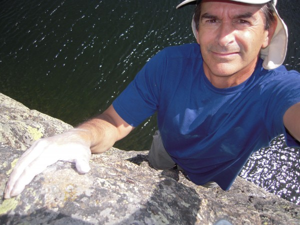Deep water soloing in Colorado. <br/>