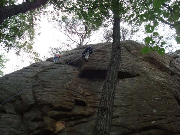 Me on Alligator (5.9) where climbers are encouraged to pet the...