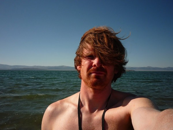 Nutjob self portrait, Mono Lake 2009