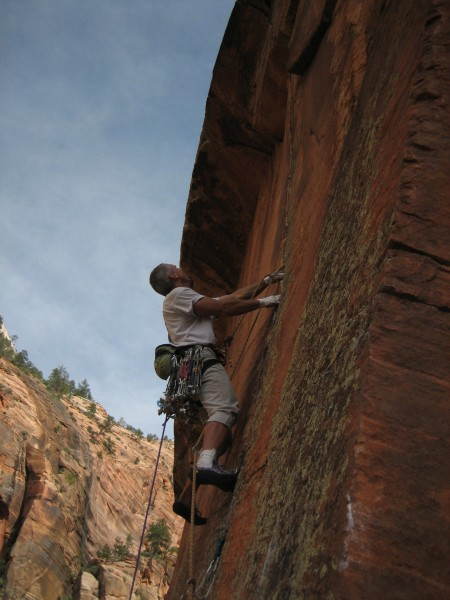 The amazing crux splitter pitch.  Fantastic position and pumpy thin ha...