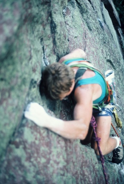 Prunes on the first ascent of Rich and Famous 5.11+