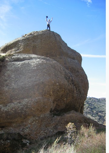 Adventure is not dead... pinnacle baggin' at Big Rocks. Coby on top of...