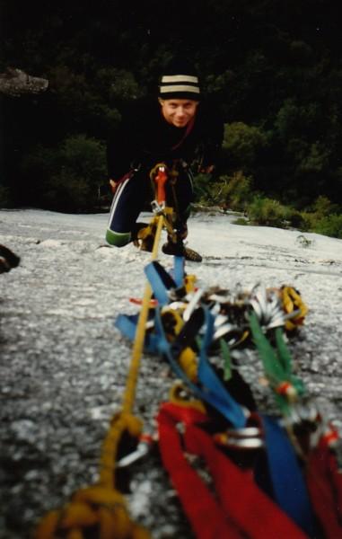 Scott Young on wrist twister, Squamish BC