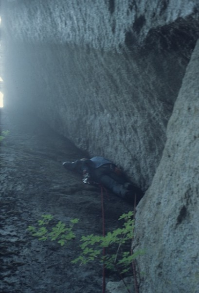 gf on The Bastille, South Gully, Squamish BC