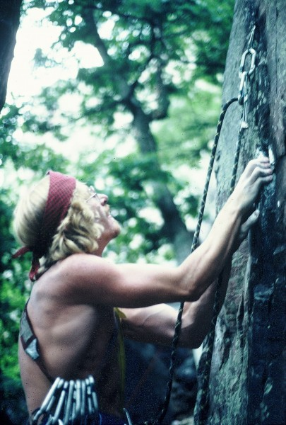 Prunes on the 2nd ascent of All the Way,the first time RPs where used ...