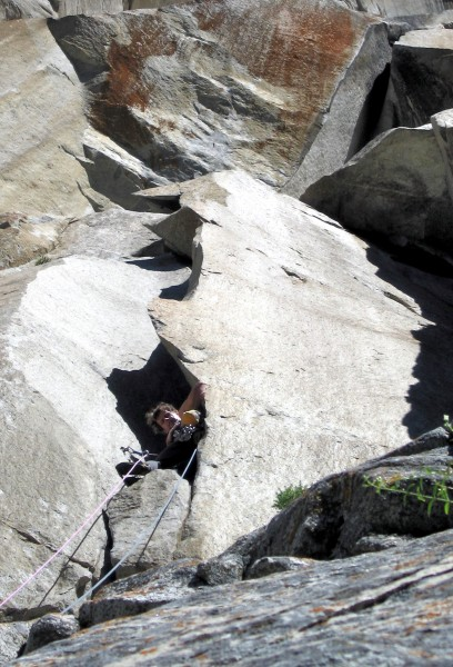 Peter Croft on the enjoyable sixth pitch of Astroman