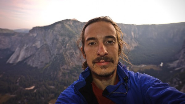 Self portrait of a very tired solo climber on the third bivy of Lost A...