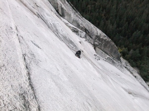 "View down p8, ""Glass Menagerie"", the lowest 5.12 pitch.  Chris at The ..."
