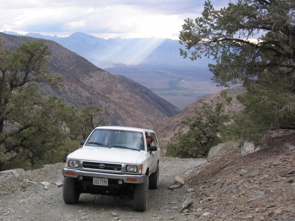 Silver Canyon near Bishop . This 4x4 road leads up to the White Mtns.