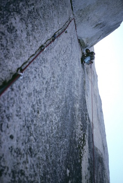Near the top of the Nose, El Cap - More than 30 years ago