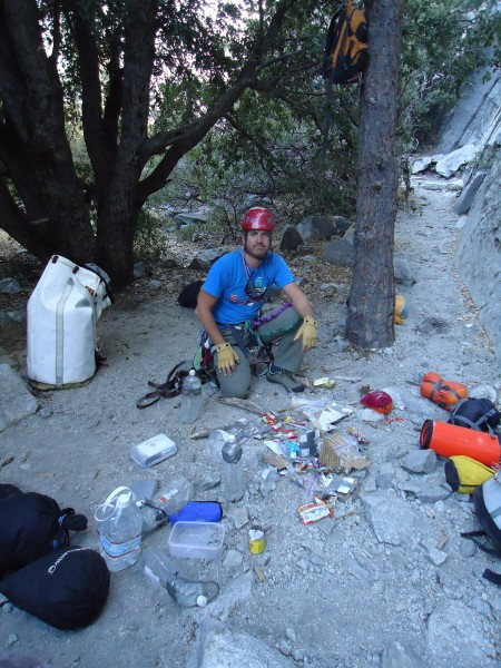 Bear damage!! in 2010 a bear got the bag at the base of El Cap. This c...