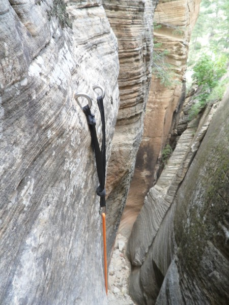 Anchors?  Big 'uns in Mystery Canyon, Zion <br/>