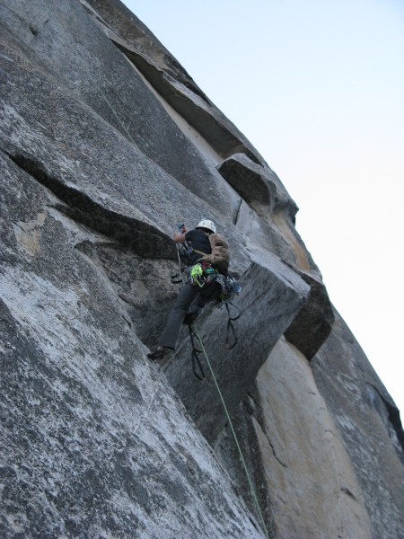 Jugging. We decided to top out and rap back down to dinner ledge to gr...