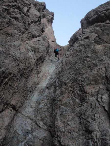 One of the final raps exiting Bad Canyon.