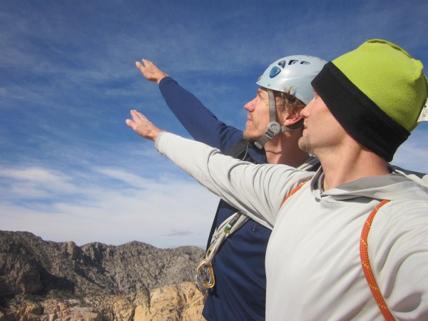 Andre and I strike the PullHarder pose on the summit of Black Velvet P...