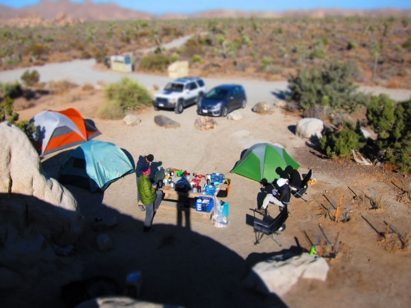 Our campsite at Ryan