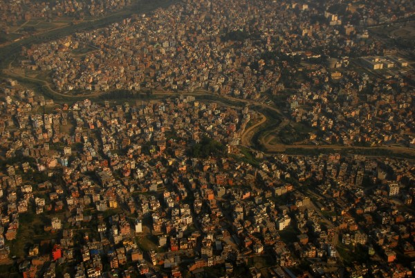 Kathmandu from the air