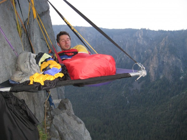 Waking up on day 2.  Nothing like a good nights sleep 2000 feet up, on...