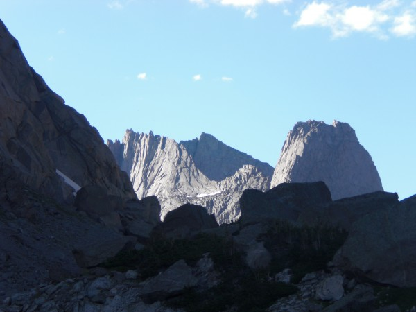 The cirque of the towers with Pingora and Wolfs head